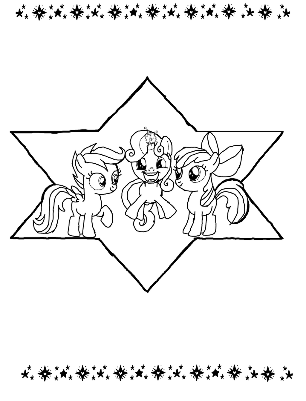 Cutie Mark Crusaders Coloring Pages Coloring Coloring Pages