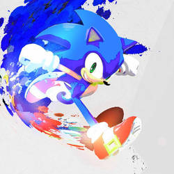 Saturated Paint - Sonic The Hedgehog