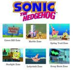 Sonic (1991) Zones as Spongebob Screenshots