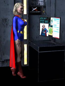 Golden Age Supergirl Investigating