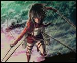 Mikasa Ackerman by AriLibella
