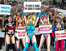 The Superwomen's March by TheStonemiester1