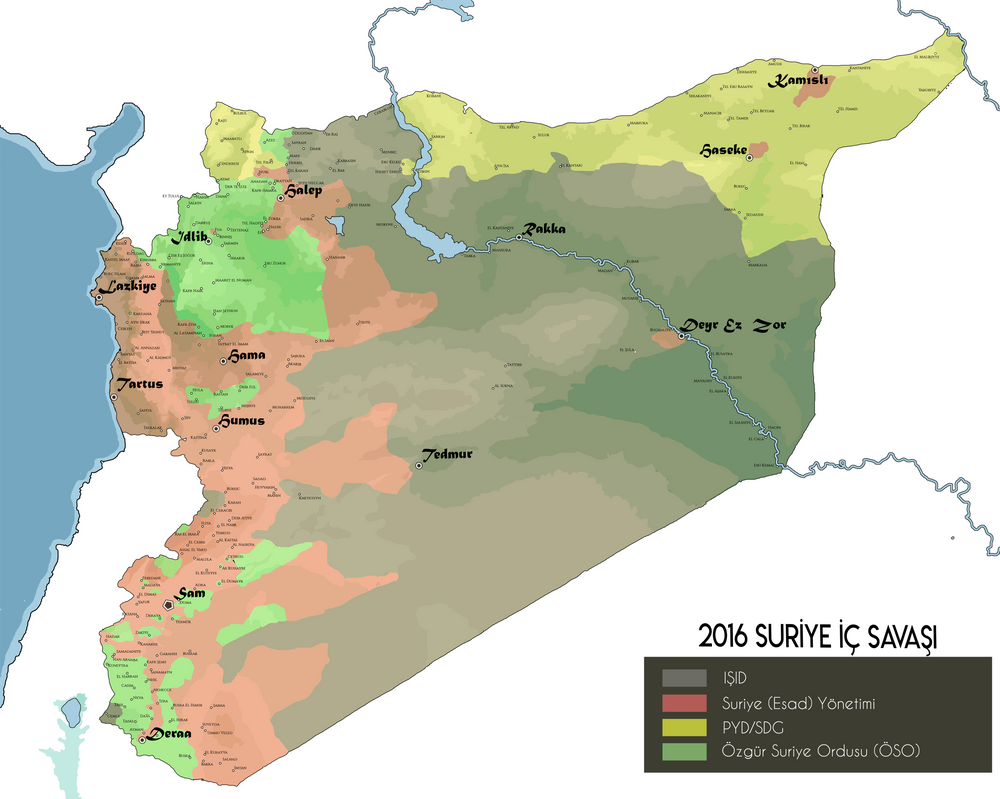 Syria political map 2016 by turkishmountedarcher on deviantart syria political map 2016 by turkishmountedarcher gumiabroncs Images