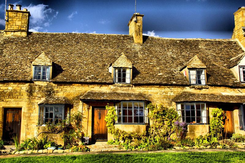 Golden Cottages by Deb-e-ann