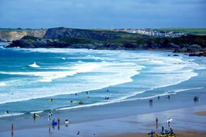 Newquay Surfing by Deb-e-ann