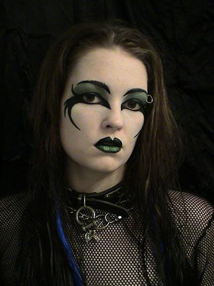 Gothic Face Painting II by HarlequinTears1981
