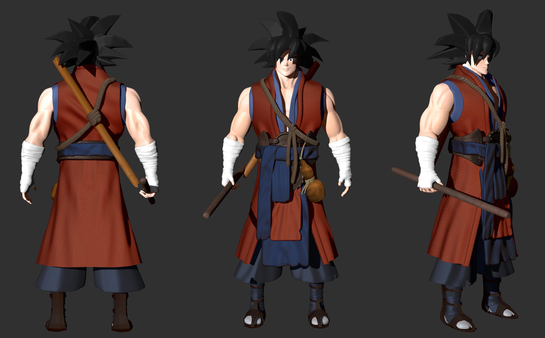 Blenderella Character Modeling In Blender 2 5 Download : Ancient goku by zeroccorez on deviantart