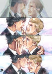 The Married couples with kiss