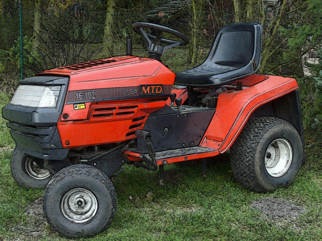 Mtd Tractor 1600 : Mtd e gardentractor by ardgy on deviantart