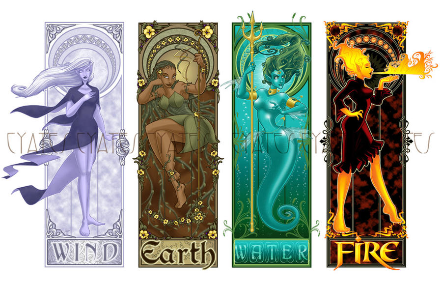 Four Elements Art : The four elements by shadesofearth on deviantart