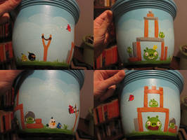 Angry Birds Flower Pot