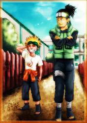 _Naruto and Iruka chillin_ by BAN---KAI