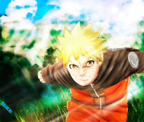 _Naruto running_ by BAN---KAI