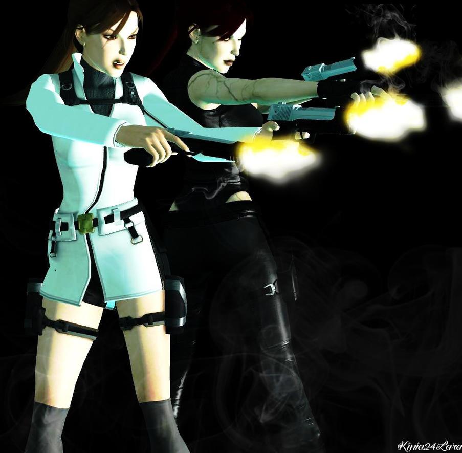 Lara Croft And Doppelganger by Kinia24Lara