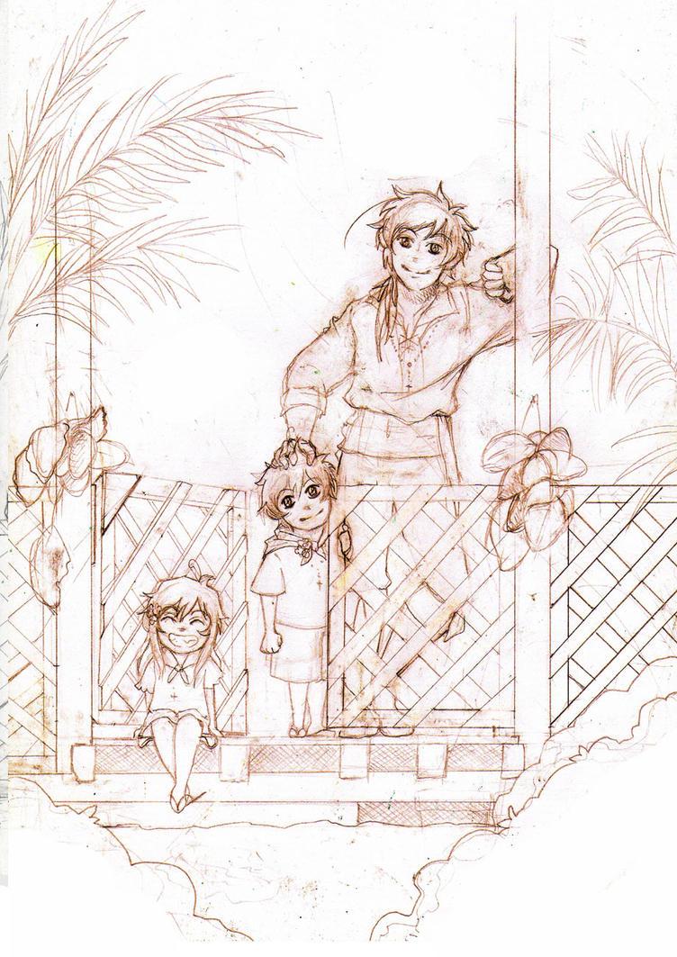 Sketch: Los tiempos despreocupados by Bakarasu