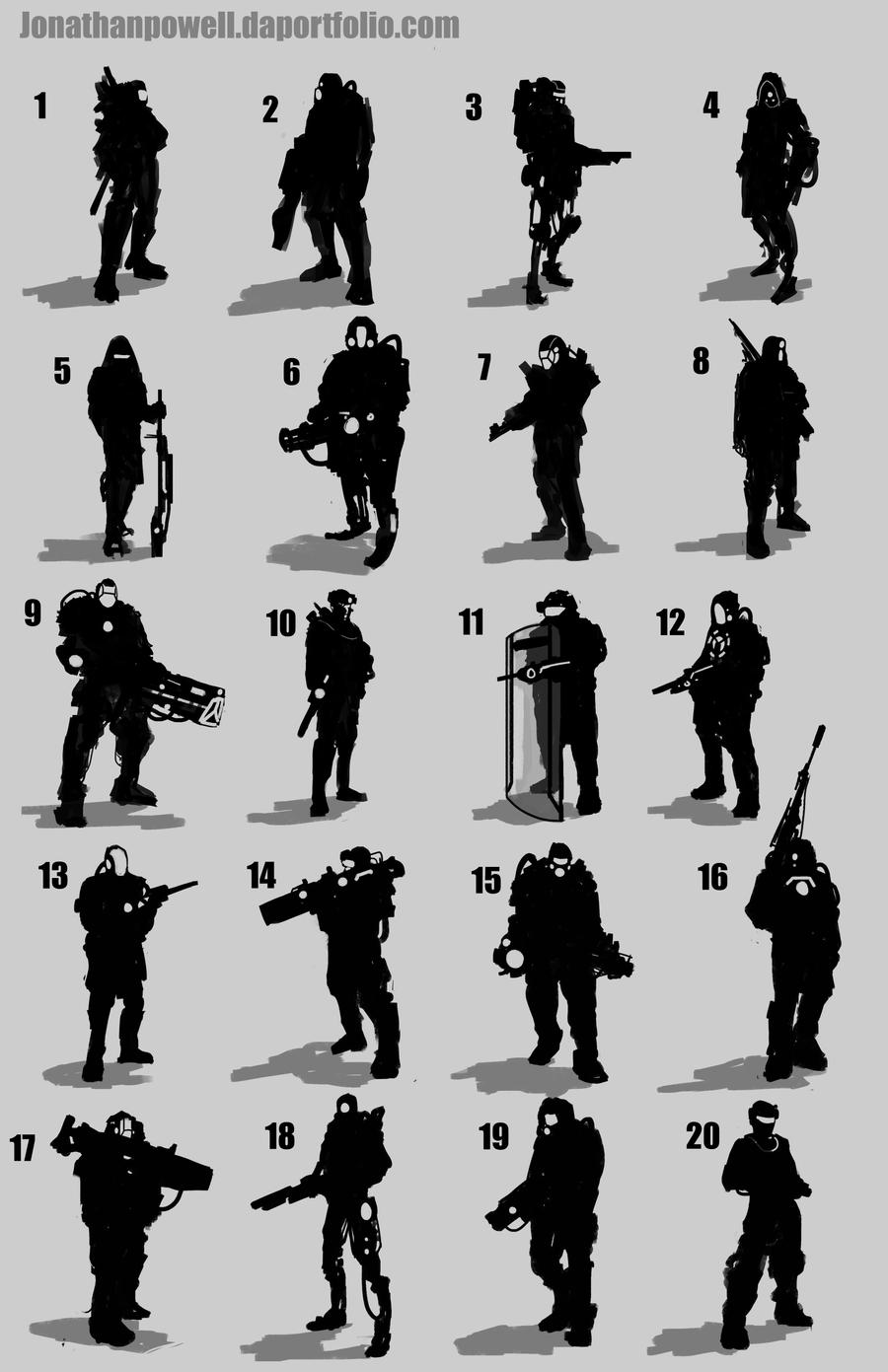 Military Silhouettes