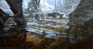 Military facility concept by ArtofJonathanPowell