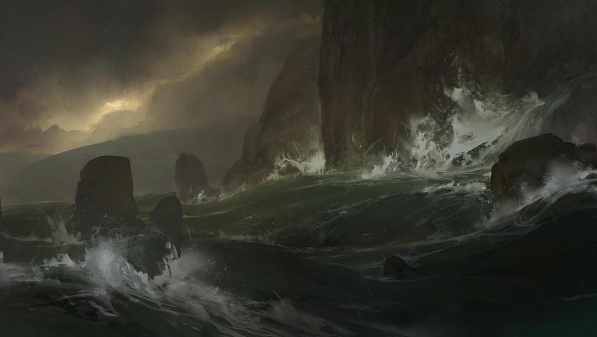Stormy Sea by JonathanP45