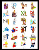 Asatru Alphabet by El-Sharra