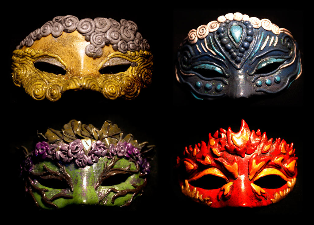 Elemental Masks by El-Sharra