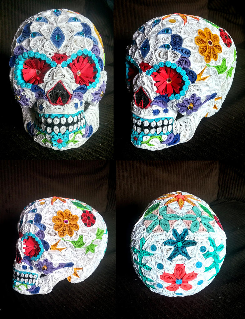 Quilled Sugar Skull by El-Sharra