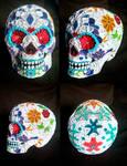 Quilled Sugar Skull by El-Sharra