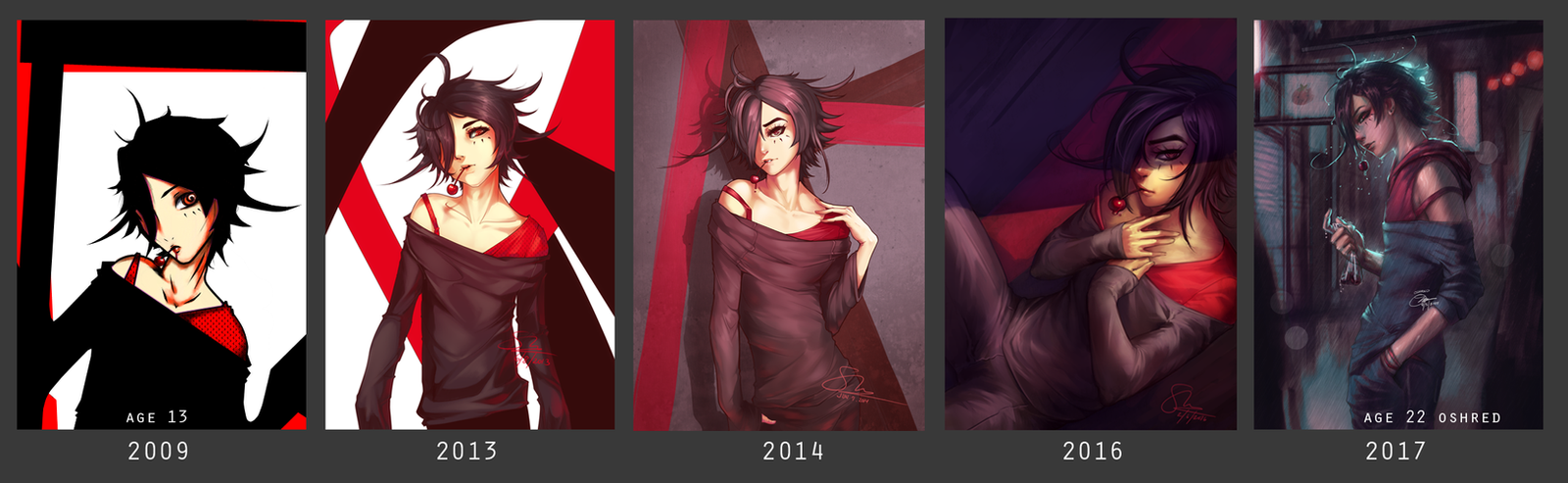 Cherry: 8 Years of Digital Art by oshRED