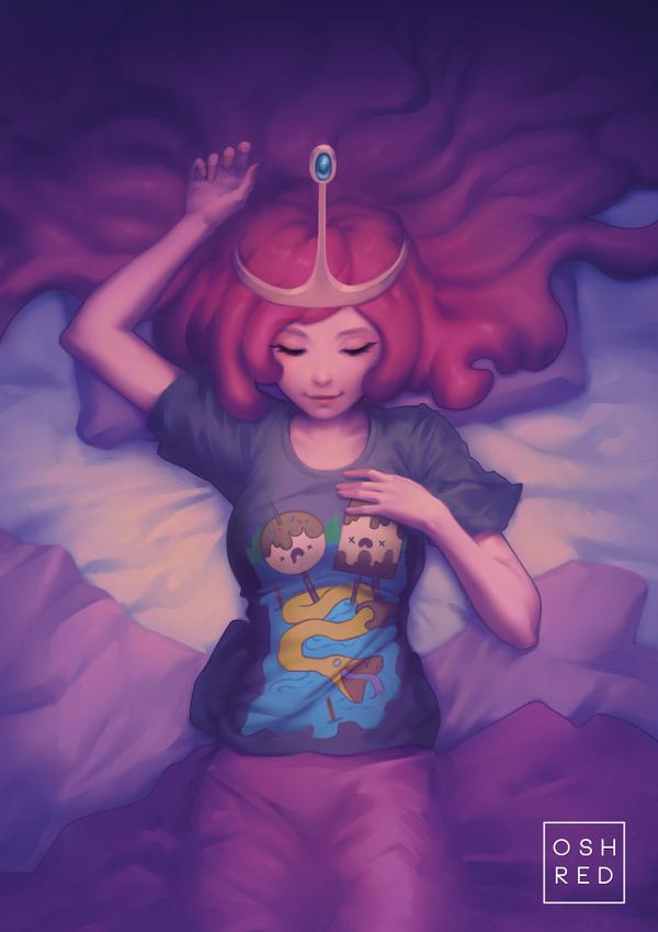 Adventure Time: Princess Bubblegum by oshRED