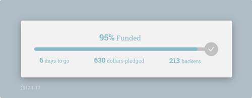 Daily UI #032 - Crowdfunding Progress