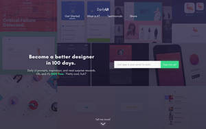 Daily UI #100 - Daily UI Landing Page Redesign