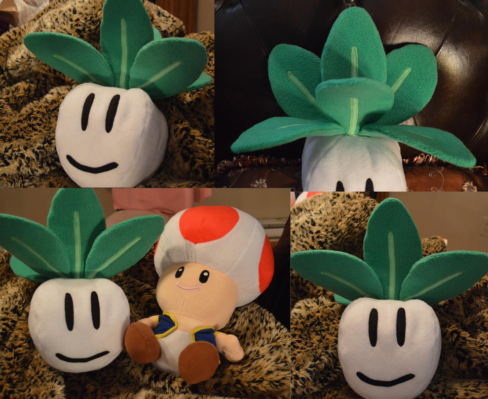 Princess Peach's Turnip plush by LadyRoseTea