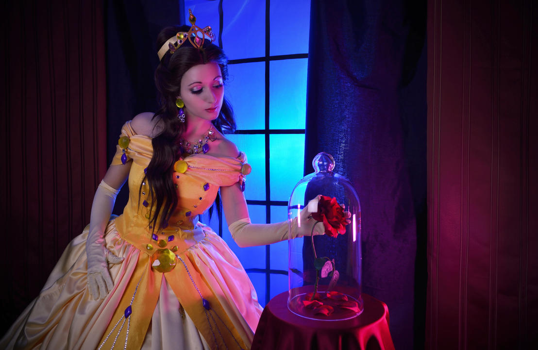 Belle - Beauty and the Beast - The Enchanted Rose by LadyRoseTea