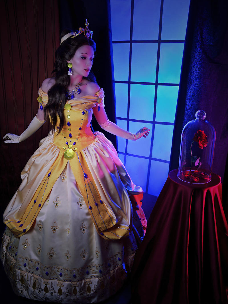 Belle Beauty And The Beast A Mystical Flower By