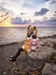 Haruna - Arpeggio of Blue Steel - Nostalgic Sunset by LadyRoseTea
