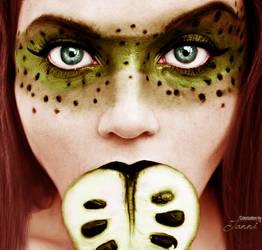 Bite my apple Colorization green version