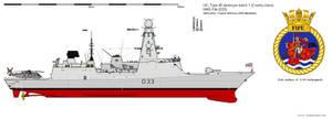 Type 45 destroyer HMS Fife (D33)