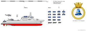 Black Swan-class sloop-of-war HMS Bluebell (K87) by dave-llamaman