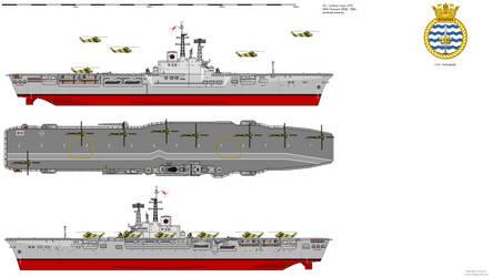 Centaur-class LPH HMS Bulwark (R08) - 1965 AU