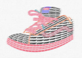 Typography shoe by rich-tedstone