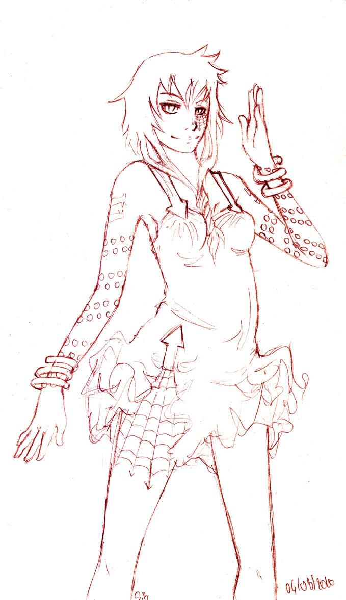 Medusa sketch by inu-steakcy