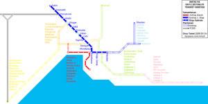 Antalya rail transit map by ont