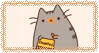 pusheen eating by idcaus