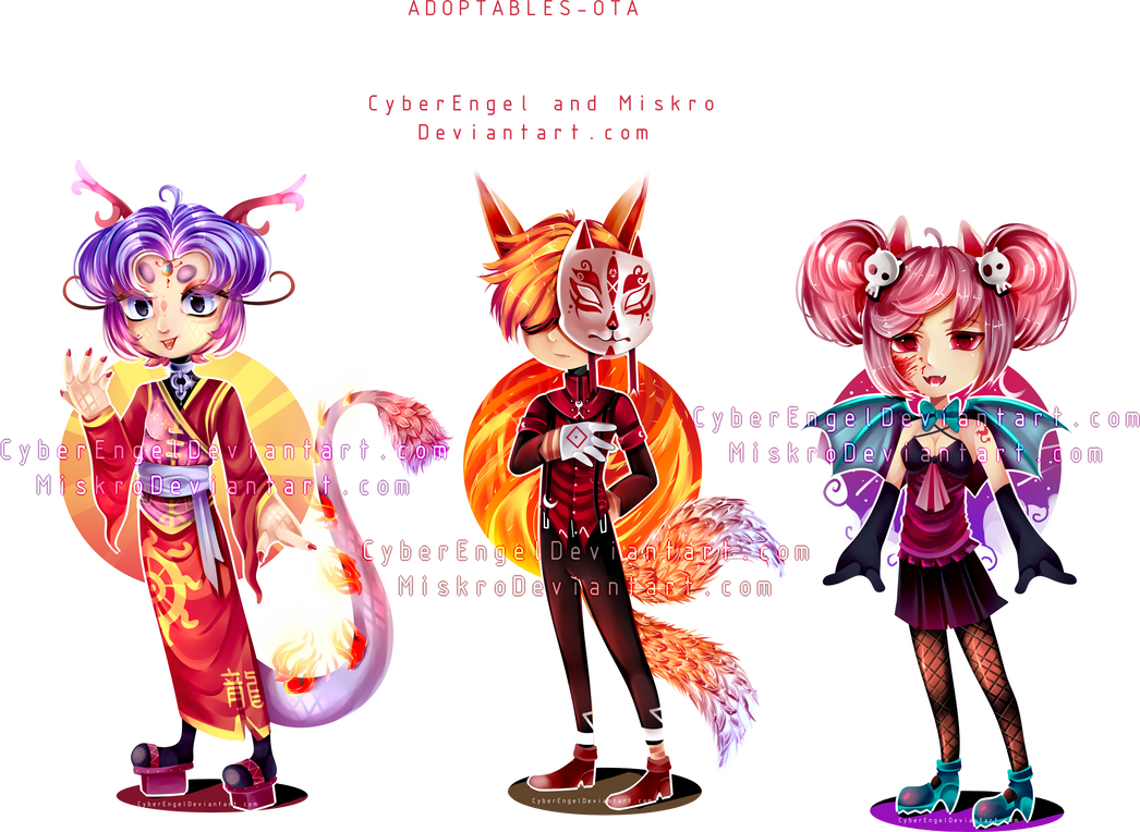 [OTA-OPEN] Mystical Adoptables 3/3 [+Video] by CyberEngel
