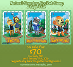 ANIMAL CROSSING BADGE SALE! by Eevachu