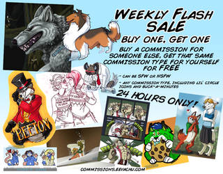 Weekly Flash Sale #3 (24 Hours ONLY!) by Eevachu