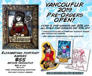Vancoufur 2019 Pre-Orders OPEN! by Eevachu