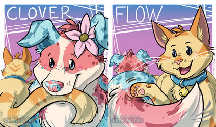 Clover and Flow Matching Badges by Eevachu