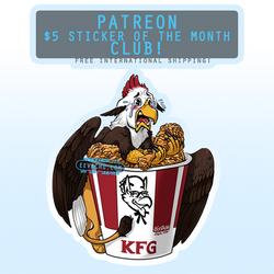 Kentucky Fried Gryphon - March 2020 Sticker