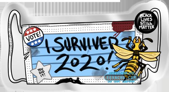 I Survived 2020! Bonus Sticker