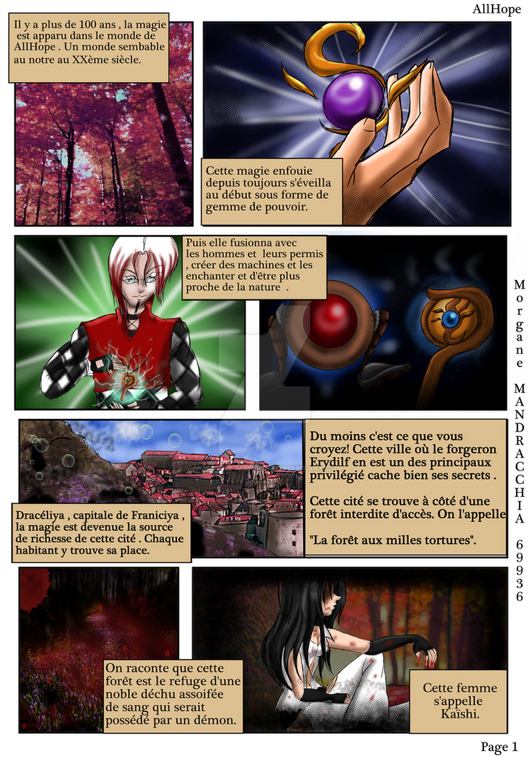 AllHope Page 1 French Morgane Manga A4 by Morgane-Mangas